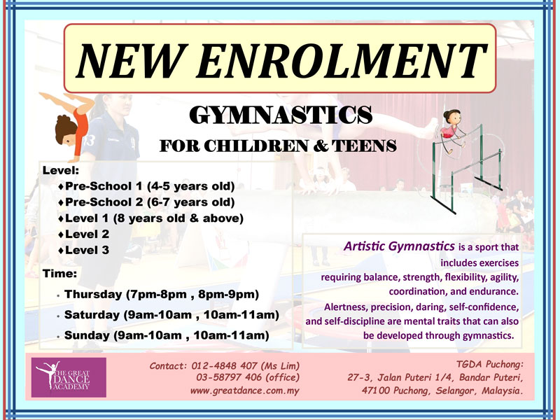 Gymnastics New Enrolment
