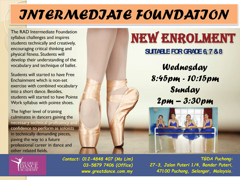Intermediate Foundation 2020 New Intake